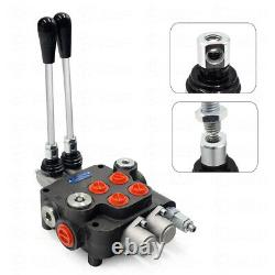 11GPM Hydraulic Directional Control Valve 1 Spool 2 Spool for Tractors Loader, US