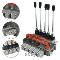 11 GPM Hydraulic Directional Control Valve Tractor Loader with Joystick, 5 Spool