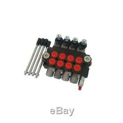 1/2/3/4 Spool Hydraulic Control Valve 13 GPM Adjustable Tractors Loaders