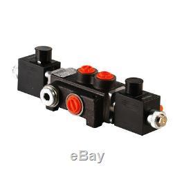 1 Bank Hydraulic Solenoid Control Spool Valve, 1/2 / 3/8 BSP, 50lpm, 12 / 24v