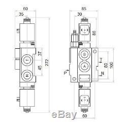 1 Spool Hydraulic Monoblock Directional Solenoid Control Valve, 13 GPM, 12V 50L