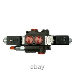 1 Spool Solenoid 12V DC Hydraulic Control Valve Double Acting 13 GPM 3600 PSI