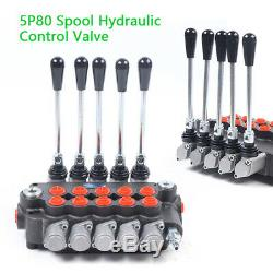 21GPM Hydraulic Directional Adjust. Control Valve 6Spool Fit Tractor LoaderNew