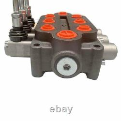 25 GPM Hydraulic Control Valve Log Splitter 3 Spool Tractors Loaders 3000 PSI