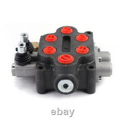2Spool 25GPM Hydraulic Control Valve Double Acting Adjust. 3000PSI Sale