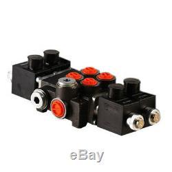 2 Bank Hydraulic Solenoid Control Spool Valve, 1/2 / 3/8 BSP, 50lpm, 12 / 24v