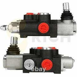 2 Spool 11 GPM 3600 PSI Hydraulic Control Valve Double Acting Loader with Joystick