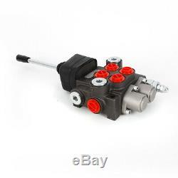 2 Spool 11 GPM Hydraulic Control Valve Motors Tractors Loaders with 1 Joystick