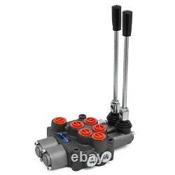 2 Spool 8 GPM MB21BB5C1 Hydraulic Control Valve Motors Tractors loaders 9-7862