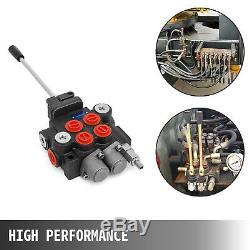 2 Spool Hydraulic Control Valve 11GPM Double Acting Monoblock 3600 PSI