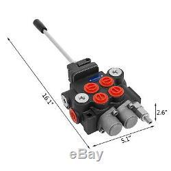 2 Spool Hydraulic Control Valve 11GPM Double Acting Monoblock 3600 PSI 150psi