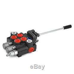 2 Spool Hydraulic Control Valve 11GPM, Double Acting Monoblock Cylinder Spool