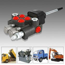 2 Spool Hydraulic Control Valve 11 GPM Double Acting 40l/min Tractors loaders