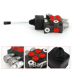 2 Spool Hydraulic Control Valve 11 GPM Double Acting Motors Tractors loaders