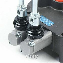 2 Spool Hydraulic Control Valve 21GPM Double Acting SAE Ports For Small Tractors