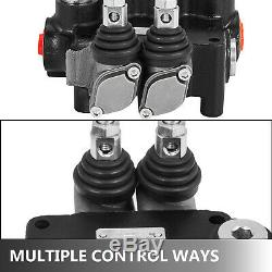 2 Spool Hydraulic Control Valve 21 GPM Double Acting Motors Tractors loaders