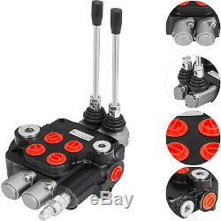 2 Spool Hydraulic Control Valve Double Acting 21 GPM 3600 PSI SAE Ports