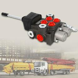 2 Spool Hydraulic Directional Control Valve 11gpm, Double Acting Cylinder 40L