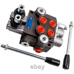 2 Spool Hydraulic Directional Control Valve 11gpm Double Acting Cylinder 40L/min