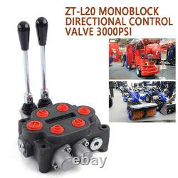 2 Spool Hydraulic Double Acting Control Valve 25 GPM Tractors Loaders 90L/min