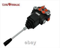 2 Spool Hydraulic JOYSTICK control valve 11gpm, double acting cylinder spool 40L