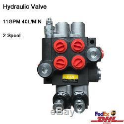2 Spool Hydraulic Monoblock Hydraulic Directional Control Valve 11 GPM 40L/min