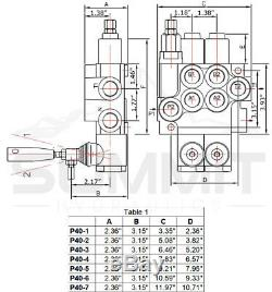 2 Spool Monoblock Hydraulic Directional Control Valve, 11 GPM, SAE Ports