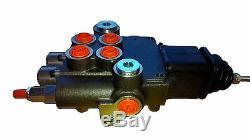 2 spool hydraulic JOYSTICK control valve 11gpm, double acting cylinder spool BSP