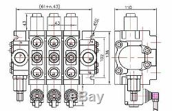 2 spool hydraulic JOYSTICK control valve 19gpm, sectional, double acting