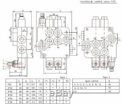 2 spool hydraulic JOYSTICK control valve 21gpm, double acting cylinder spool