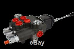 2 spool hydraulic JOYSTICK loader control valve 21gpm with FLOATING spool