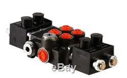 2 spool hydraulic solenoid directional control valve 21gpm 12VDC, monoblock