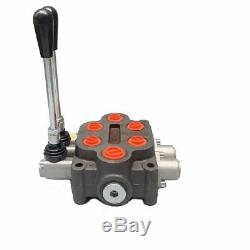 3000PSI Hydraulic Control Valve 2 Spool Loader For Small Tractor 3/4 BSP 25GPM
