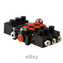 3 Bank Hydraulic Solenoid Control Spool Valve, 1/2 / 3/8 BSP, 50lpm, 12 / 24v