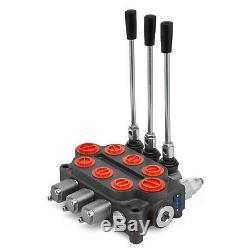 3 Spool 25 GPM Hydraulic Control Valve RD532CCCAAA5A4B1 NPT Ports 3000 PSI