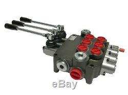 3 Spool Hydraulic Control Valve Double Acting 21 GPM 3600 PSI SAE Ports NEW