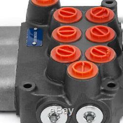 3 Spool Hydraulic Control Valve MB31BBB5C1 8 GPM 8 SAE Ports Enclosed Motors