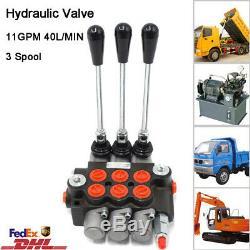 3 Spool Hydraulic Directional Control Valve Pressure Valves11 GPM 40L/min 20MPa