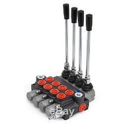 4 Spool Hydraulic Directional Control Valve 11Gpm Motors 4300Psi 40l/min