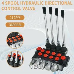 4 Spool Hydraulic Directional Control Valve 11Gpm Motors Double Acting Monoblock