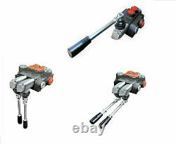 4 Spool Hydraulic Directional Control Valve 11gpm, Double Acting Cylinder 40 L