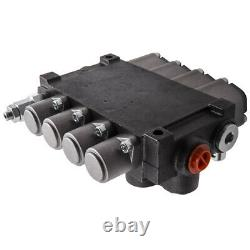 4 Spool Hydraulic Directional Control Valve Flow 11GPM 3600PSI Small Tractors