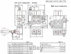 4 spool hydraulic directional control valve 11gpm, double acting cylinder spool