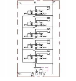 5 BANK Hydraulic Directional Control Valve 2x JOYSTICK 11gpm 40L 5x Double 5xDA