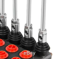 5 Spool Hydraulic Directional Control Valve 11GPM 40l/min Monoblock Motors