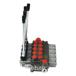 5 Spool Hydraulic Directional Control Valve 11gpm, Double Acting Cylinder 40L