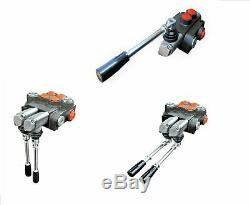 5 Spool Hydraulic Directional Control Valve 11gpm, Double Acting Cylinder 40 L