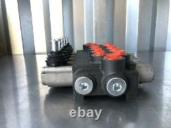5 Spool Hydraulic Directional Control Valve Double Acting Cylinder NO HANDLES