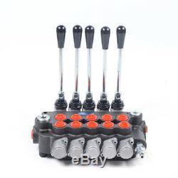 5 Spool Hydraulic Valve 21 GPM 80L/min 4500PSI Pressure 5 Control Valve Switches