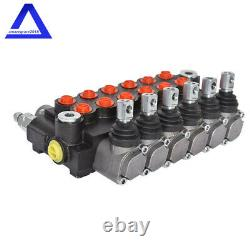 6Spool Hydraulic Directional Control Valve 11gpm Adjustable Relief Valve Durable